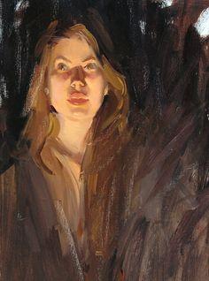 "bailey underlit by Robert Lemler Oil ~ 25"" x 16"""