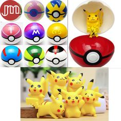 Find More Action & Toy Figures Information about New 12pcs Pokemon Pikachu…