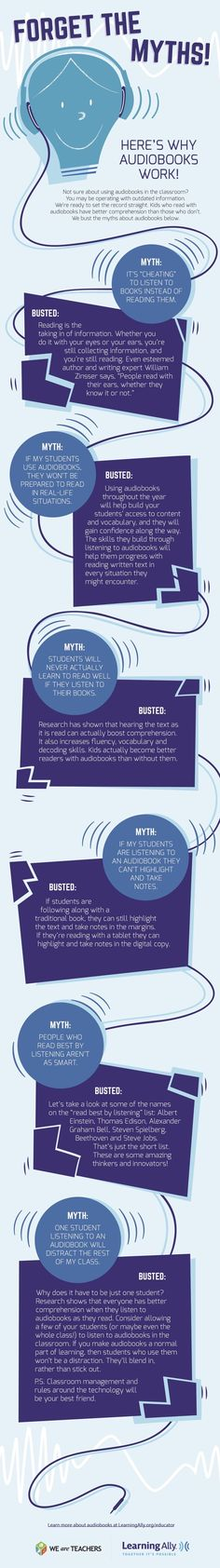 Don't be afraid of using #audiobooks in the classroom #infographic
