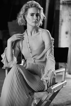 "abbysredhead: """"— Sarah Paulson about her charater in American Horror Story: Hotel coming back from the dead "" "" American Horror Story, Holland Taylor, Divas, Sexy Poses, Celebs, Celebrities, Woman Crush, Powerful Women, Celebrity Crush"