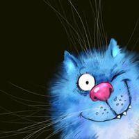 Синие коты Рины Зенюк. by Rina Zeniuk