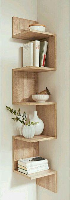 "Eckregal ""Rico"", bpc living, sonoma eiche - Do it yourself decoration Diy Furniture, Furniture Design, Corner Furniture, Simple Furniture, Black Furniture, Furniture Plans, Diy Casa, Home And Deco, New Room"
