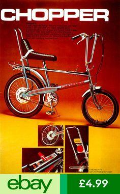 Loved my Chopper! The Genuine Raleigh Chopper. Bicycle Retailer & Industry News - Alan Oakley, Chopper designer, dies at 85 Velo Retro, Velo Vintage, Vintage Bicycles, Vintage Ads, Vintage Style, Vintage Toys 1960s, Retro Bike, Raleigh Bicycle, Raleigh Bikes