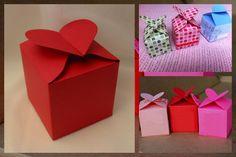 Free Heart Top Favor Box Template..