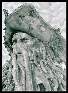 POTC - Davy Jones by WitchiArt on deviantART
