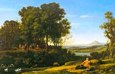 Claude Lorrain: Landscape with Apollo and the Muses