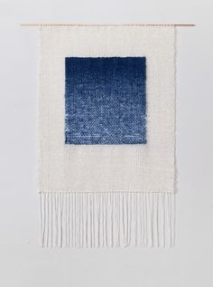 Indigo Gradient weaving by Brook & Lyn