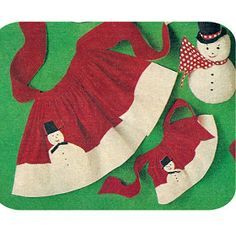 Free Vintage Snowman Mother And Daughter Apron Pattern                                                                                                                                                                                 More