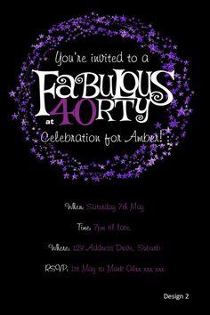 40 fabulous teal blue gold 40th birthday party invitation 40th 40th birthday invitation purple glitter invitation you print jpeg file filmwisefo
