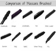 Comparison of some popular mascara brushes!