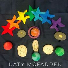 Space Rocks, rockets, planets and lacing stars by Katy McFadden.
