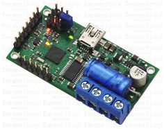 Pololu Simple Motor Controller 18v7 (Fully Assembled) The Pololu Simple Motor Controller 18v7 makes basic control of brushed DC motors easy, with our free Simple Motor Control Center software enabling quick configuration over USB.