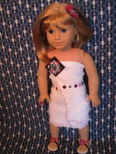 American Girl Doll Sized Spa Bathrobe Set by InspiredByMarcella