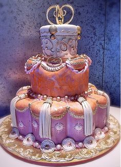 Purple Peach cake