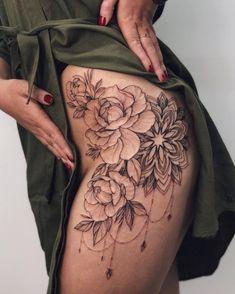 Floral Tattoo Design, Mandala Tattoo Design, Henna Tattoo Designs, Tattoo Designs For Women, Mehndi Designs, Tattoo Ideas, Rose Tattoos For Women, Hip Tattoos Women, Sexy Tattoos