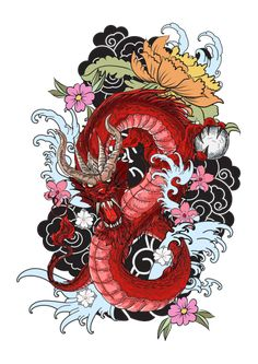 Japanese old dragon for t… hand drawn Dragon tattoo ,coloring book japanese style.Japanese old dragon for tattoo. Traditional Asian tattoo the old dragon vector. Japanese Dragon Tattoos, Japanese Tattoo Art, Japanese Tattoo Designs, Asian Dragon Tattoo, Chinese Dragon Drawing, Dragon Tattoo Colour, Dragon Tattoo Designs, Dragon Tattoo Background, Dragon Tattoo With Flowers