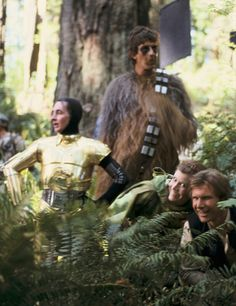 Star Wars cast behind the scenes