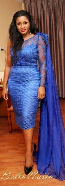 BN Style Bytes: Fierce & Bold in Blue! Omotola Jalade-Ekeinde Spotted in a Custom Alali Boutique Dress at a Movie Premiere in Tanzania | Bella Naija
