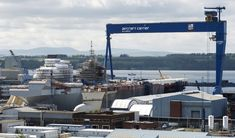 Construction continues on the HMS Queen Elizabeth, at Rosyth Dockyard in Scotland. Seen here a view of the ship taken from HMS Caledonia. Type 45 Destroyer, Hms Prince Of Wales, Hms Illustrious, Hms Queen Elizabeth, Carrier Strike Group, Navy Carriers, Navy Aircraft, Royal Marines, Flight Deck
