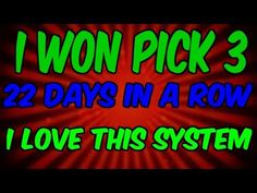 Pick 3 Lottery System ( Great) 2018 HOW I WON OVER 10 THOUSAND DOLLARS PLAYING PICK 3 LOTTERY - YouTube Pick 3 Lottery, Play Lottery, Lotto Lottery, Lottery Strategy, Lottery Games, Lottery Winner, Lottery Tickets, Winning The Lottery, Lotto Winners