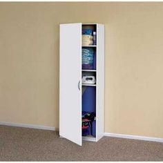 Cleaning Supply Storage Closetmaid 24 In Wide Laminate Tall Cabinet The Home Depot