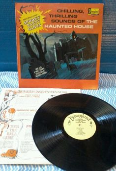 Chilling Thrilling Sounds of The Haunted House Record Album LP 1964 Disneyland