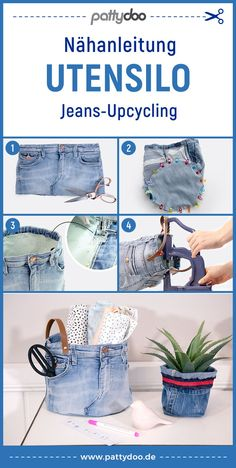 Refaçonner Jean, Textiles, Diy Upcycled Art, Upcycled Furniture Before And After, Sac Week End, Diy Accessoires, Jean Crafts, Easy Sewing Patterns, Diy Clothes