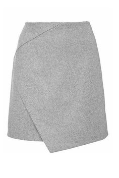 Cross Over Mini Skirt in Gary #genuine-people #gray #skirt