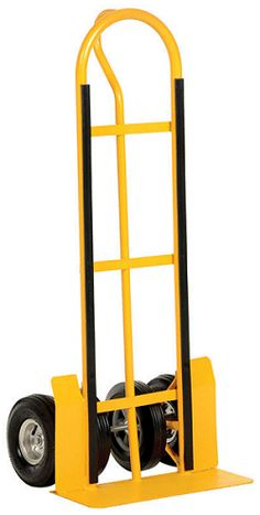 Hand Trucks R Us - 4 Wheel Pneumatic/Hard Rubber Hand Truck | $289.95 - The most versatile and easy moving hand truck available. The 4 wheel design, 2 pneumatic and 2 hard rubber, allows the operator to easily move and position awkward loads.
