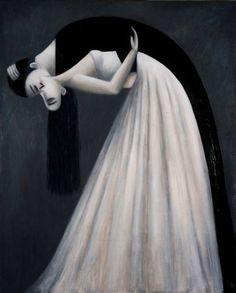 French artist Johanna Perdu (La D'Jo).  Painting on the wall