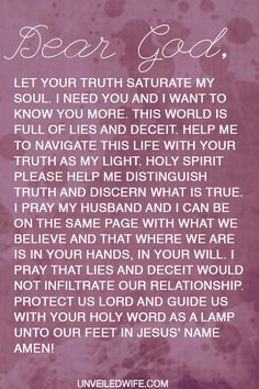 Prayer: Let Your Truth Saturate My Soul