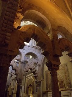 Inside the Mezquita in Cordoba. The former mosque is now a Catholic Cathedral and a must-see place in Andalusia.  http://www.roomsevilla.com/