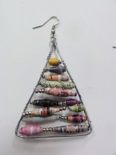 Anthropologie Inspired Paper Bead Earrings