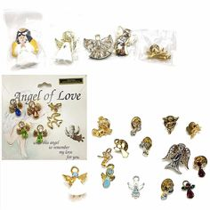 Large lot of 26 pins- angels, cupids and cherubs in various metals, with and without stones.   eBay!