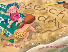 two books with a beach theme and how you can incorporate your student's speech and language goals.