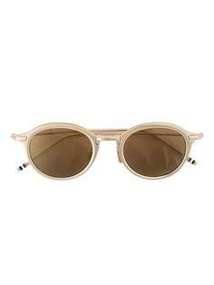 THOM BROWNE round frame sunglasses. #thombrowne #sunglasses