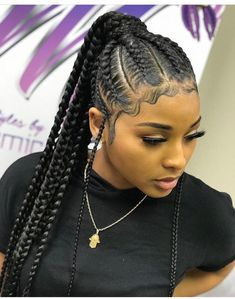 317 Best Cornrow Ponytail Images In 2019 Braided