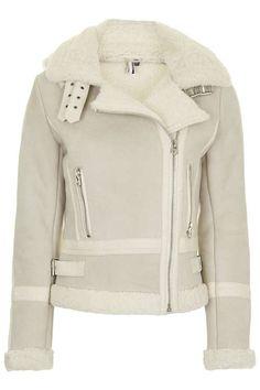 **Hooded Shearling Biker Jacket - tumblr