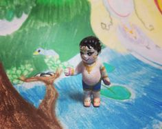 Play & remember krishna Set of krsna balaram radha puppet
