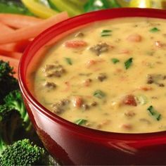 Queso dip recipe with ground beef crumbles and green onions added to cheese and zesty tomatoes for a dip never to be retired.  Velveeta® and Kraft® are registered trademarks of Kraft Foods, Inc.  Ro*Tel® is a registered trademark of ConAgra Foods RDM, Inc.