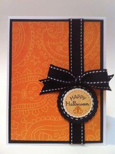 Courtney Lane Designs: Happy Halloween card made using the Art Philosophy cartridge.