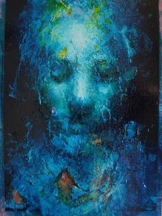 ARTFINDER: Turquoise Head by Jean-Luc Almond - Impasto oil painting on wood with glazed gloss surface. Inspired by traditional techniques but using obscure colour and distortion the painting has a pull pu. Painting Plastic, Plastic Art, Painting On Wood, Modern Art Sculpture, Modern Art Deco, Creative Skills, Contemporary Wall Art, Portraits, Art Boards