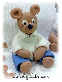Cake by Cath: Teddy With Shirt Tutorial