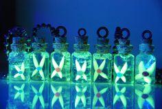 Legend of Zelda inspired, Fairy in a Bottle ((Glow in the Dark)) Necklace