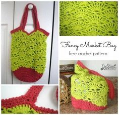 ~Fancy Market Bag~ FREE crochet pattern ~ #cre8tioncrochet