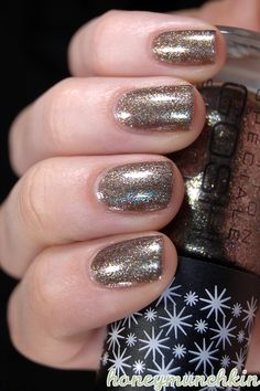 612 Galaxy has a brownish base crammed with rather large shimmer particles, mostly a sort of pale brass color but also some pink and blue. Metallic Nail Polish, Brass Color, Nail Tips, Beauty Nails, Swatch, Hair Makeup, Make Up, Nail Art, Paint