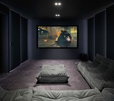 home theater rooms small Portus Homes - Contemporary - Home Cinema Room Salas Home Theater, Best Home Theater, At Home Movie Theater, Home Theater Room Design, Home Theater Rooms, Home Theater Seating, Home Theatre, Theater Seats, Cinema Room Small