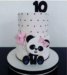 Panda Party - Over 50 Ideas / Panda Bear Cake, Bolo Panda, Panda Cakes, Panda Birthday Cake, Baby Birthday, Sandwich Torte, Panda Baby Showers, Torta Baby Shower, Panda Party