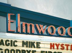 Elmwood Theatre Berkeley - 12x16 Giclée Paper Print