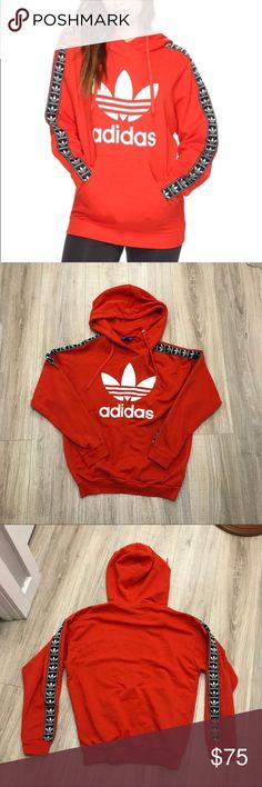 9cc625df259 ADIDAS TAPE TREFOIL PULLOVER HOODIE Rare and sold out everywhere!!! Women s  size EXTRA SMALL. Worn with zero flaws. Fits oversized. adidas Tops  Sweatshirts ...